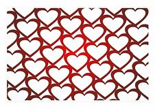 3D heart background Stock Photography