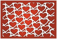 3D heart background Stock Photos