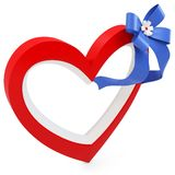 3d Heart with beautiful ribbon Stock Images