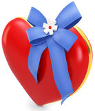 3d Heart with beautiful ribbon Royalty Free Stock Image