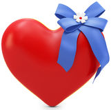 3d Heart with beautiful ribbon Stock Photos