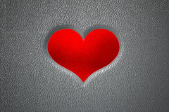 3d heart imprint on the skin Royalty Free Stock Photos