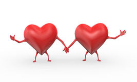 3d heart love friendship illustration Stock Photo