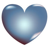 3d heart, love icon. Stock Photography