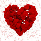 3d heart made of hearts, background Royalty Free Stock Photos