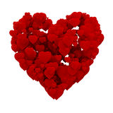 3d heart made of hearts Royalty Free Stock Photography