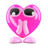 3d Heart is praying Royalty Free Stock Image