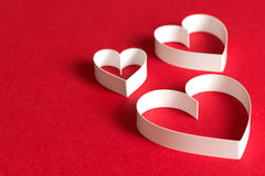 3D heart shape symbol Royalty Free Stock Images
