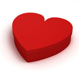 3d heart shaped gift box. On white background Royalty Free Stock Photos
