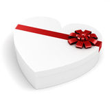 3d heart shaped gift box Stock Images