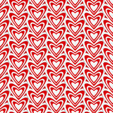 3d heart vector seamless pattern. Vector seamless pattern with 3d paper cut hearts. For Valentine Day, wedding etc. web design. Modern romantic background Stock Photography