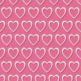 3d heart vector seamless pattern. Vector seamless pattern with 3d paper cut hearts. For Valentine Day, wedding etc. web design. Modern romantic background Royalty Free Stock Photos