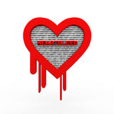 3d heartbleed openSSl security binary data. 3d illustration of openssl heartbleed sucrity breach symbol showing binary data Stock Photo