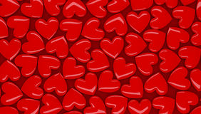 3D  hearts background Stock Photo
