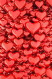 3d hearts background Stock Images