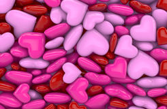 3D - Hearts 1 Stock Images