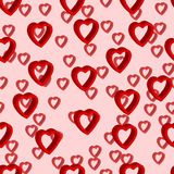 3d hearts seamless pattern background Stock Image