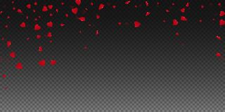 3d hearts valentine background. Falling rain on transparent grid dark background. 3d hearts valentines day fetching design. Vector illustration vector illustration