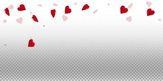 3d hearts valentine background. Falling rain on transparent grid light background. 3d hearts valentines day fresh design. Vector illustration vector illustration