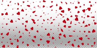 3d hearts valentine background. Wide scatter on transparent grid light background. 3d hearts valentines day extraordinary design. Vector illustration vector illustration