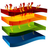 3d Heat Barrier Royalty Free Stock Photography