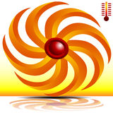 3d Heating Fan Royalty Free Stock Photo