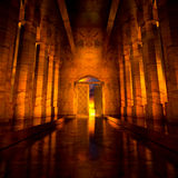 3d Heaven's Door. 3d backgrounds door opened in the building Royalty Free Stock Images