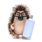 3d Hedgehog with a can of spray paint Royalty Free Stock Photo