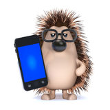 3d Hedgehog chats Royalty Free Stock Photo