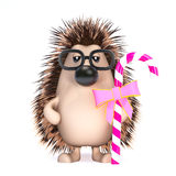 3d Hedgehog has candy Royalty Free Stock Images