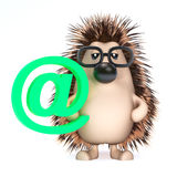 3d Hedgehog has an email address Stock Image