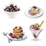3d heerlijk dessertpak Stock Foto's