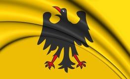 3D heiliger Roman Emperor Flag Before 1400 Lizenzfreies Stockbild