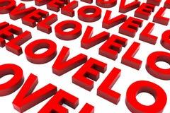 3d helgon Valentine Love Background Vektor Illustrationer