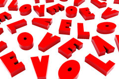 3d helgon Valentine Love Background Royaltyfria Bilder