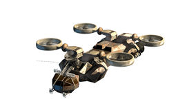 3d Helicopter drone Royalty Free Stock Photography