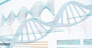 3D Helix diagram DNA Obraz Royalty Free