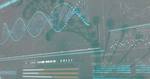 3D Helix diagram DNA Obrazy Royalty Free