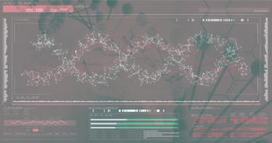 3D Helix diagram DNA Zdjęcia Royalty Free