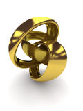 3D helix shape Royalty Free Stock Images