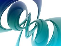 3D helix shape Royalty Free Stock Photography