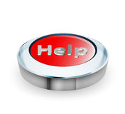 3D Help button concepts. Illustration glossy 3D Help button concepts on a white background Stock Photo