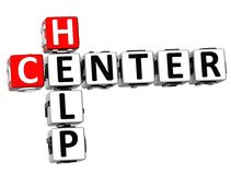 3D Help Center Crossword. On white background Royalty Free Stock Images