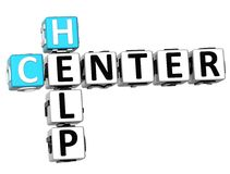 3D Help Center Crossword. On white background Royalty Free Stock Image