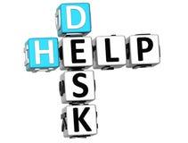 3D Help Desk Crossword. On white background Stock Image