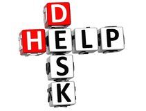 3D Help Desk Crossword. On white background Stock Photos