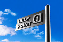3D help point signboard Stock Photos