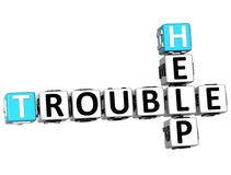 3D Help Trouble Crossword Stock Photo