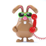3d Helpdesk bunny Royalty Free Stock Photo