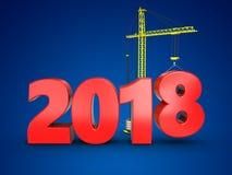 3d het jaarteken van 2018 Stock Fotografie